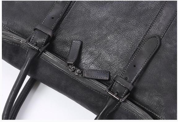 【買い付け一点物シリーズ】本革イタリアンレザー ビジネスバッグ ブリーフケース 旅行鞄 ブラック_画像3