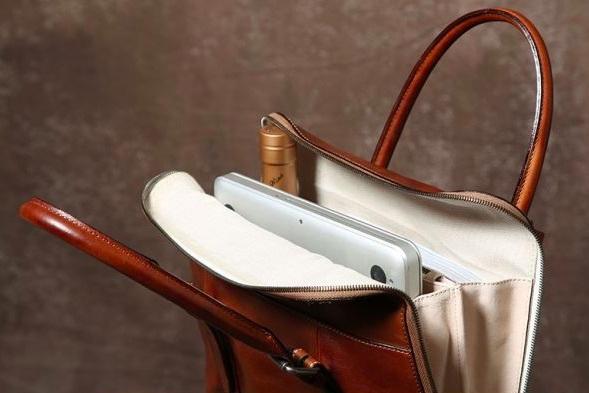 【買い付け一点物シリーズ】本革イタリアンレザー ビジネスバッグ ブリーフケース 旅行鞄 ブラック_画像7