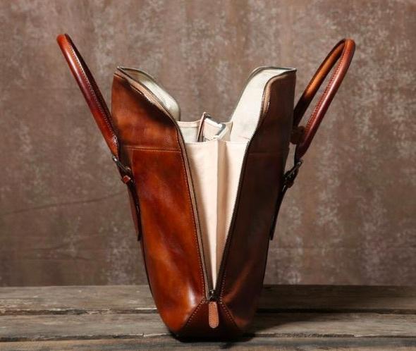 【買い付け一点物シリーズ】本革イタリアンレザー ビジネスバッグ ブリーフケース 旅行鞄 ブラック_画像9