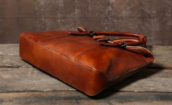【買い付け一点物シリーズ】本革イタリアンレザー ビジネスバッグ ブリーフケース 旅行鞄 ブラック_画像8