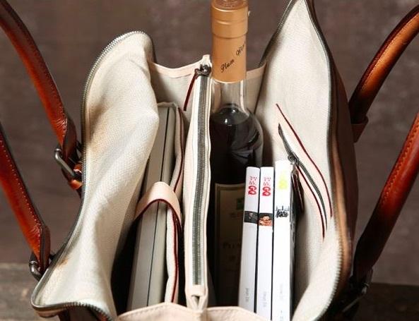 【買い付け一点物シリーズ】本革イタリアンレザー ビジネスバッグ ブリーフケース 旅行鞄 ブラック_画像6