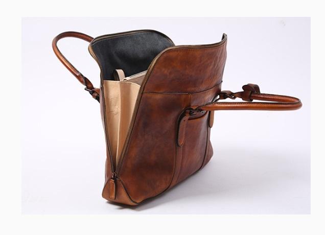 【買い付け一点物シリーズ】本革イタリアンレザー ビジネスバッグ ブリーフケース 旅行鞄 ブラック_画像10