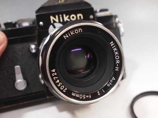 ◆Nikon【F】アイレベル+レンズ【NIKKOR-H Auto 1:2 f=50mm】現状・ジャンク品 ニコン_画像3