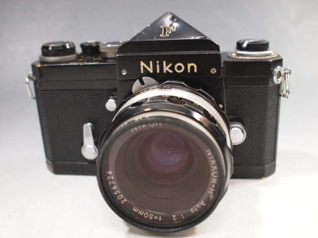 ◆Nikon【F】アイレベル+レンズ【NIKKOR-H Auto 1:2 f=50mm】現状・ジャンク品 ニコン