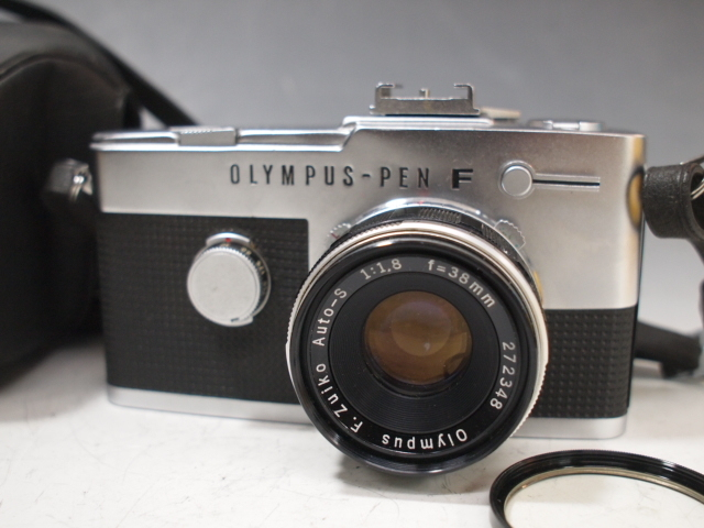 ◆OLYMPUS【PEN-FV】+レンズ【F.ZUIKO Auto-S 1:1.8 f=38mm】 USED品 オリンパス