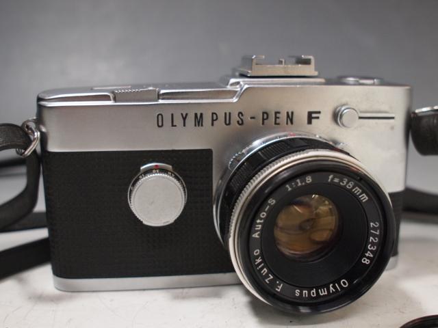 ◆OLYMPUS【PEN-FV】+レンズ【F.ZUIKO Auto-S 1:1.8 f=38mm】 USED品 オリンパス_画像2