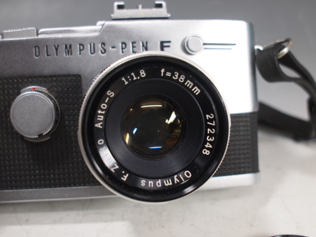 ◆OLYMPUS【PEN-FV】+レンズ【F.ZUIKO Auto-S 1:1.8 f=38mm】 USED品 オリンパス_画像3