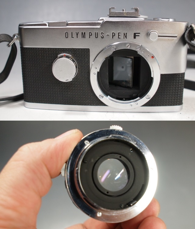 ◆OLYMPUS【PEN-FV】+レンズ【F.ZUIKO Auto-S 1:1.8 f=38mm】 USED品 オリンパス_画像8
