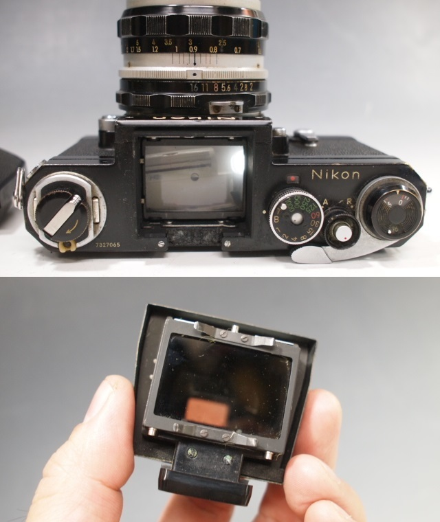 ◆Nikon【F】アイレベル+レンズ【NIKKOR-H Auto 1:2 f=50mm】現状・ジャンク品 ニコン_画像8