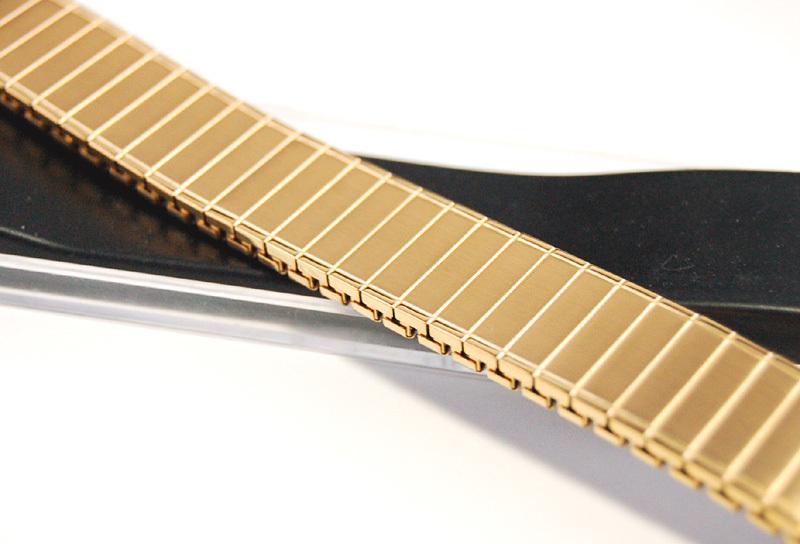 デッドストック メンズウォッチバンド ビンテージ・ヴィンテージ 男性時計ベルト ステンレススチール 伸縮ブレス MB189_画像9