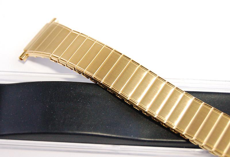 デッドストック メンズウォッチバンド ビンテージ・ヴィンテージ 男性時計ベルト ステンレススチール 伸縮ブレス MB189_画像8