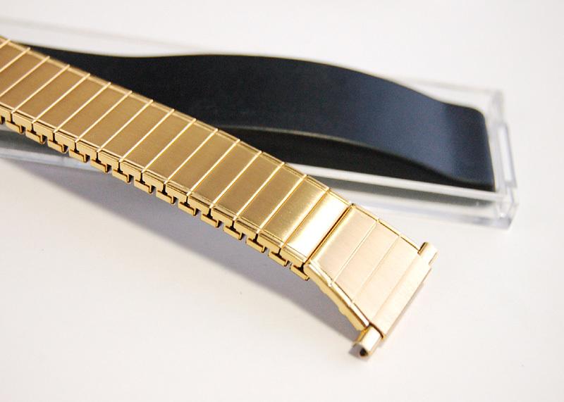 デッドストック メンズウォッチバンド ビンテージ・ヴィンテージ 男性時計ベルト ステンレススチール 伸縮ブレス MB189_画像7