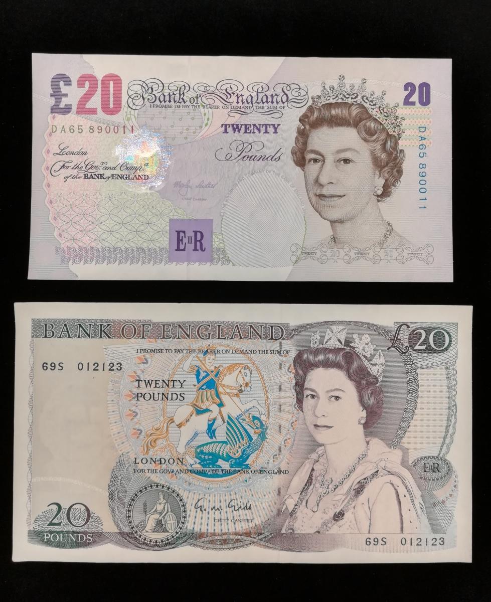 旧イギリスポンド紙幣7枚『美品』 管理755_画像1