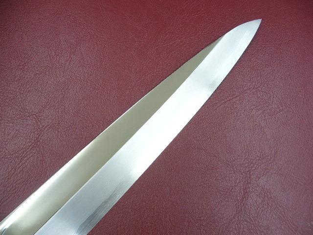 ★送料無料★カスミの最高峰★ V10 鏡面 ステンレス 刺身包丁 270mm 黒檀柄 9寸 柳刃包丁 さびにくい_切っ先部分もきれいです。