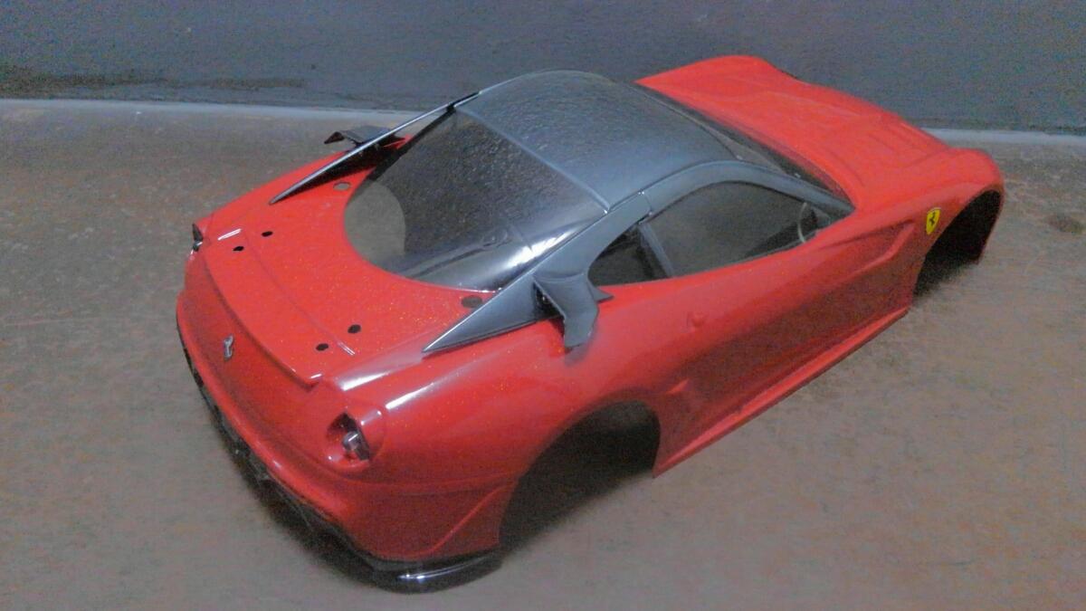 1/10 RC ツーリングカーボディセット ジャンク出品 ベンツ HSV010 フェラーリ LED電飾_画像7