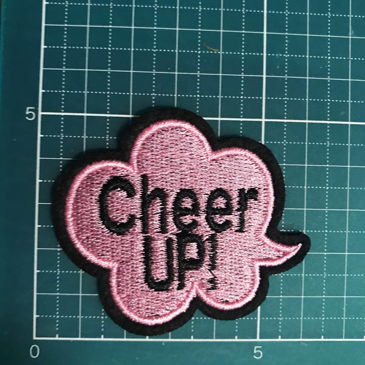 【ワッペン】「cheer up!」頑張れ☆英文吹き出し★アイロンワッペン☆入園入学新学期運動会準備にアップリケ_画像2