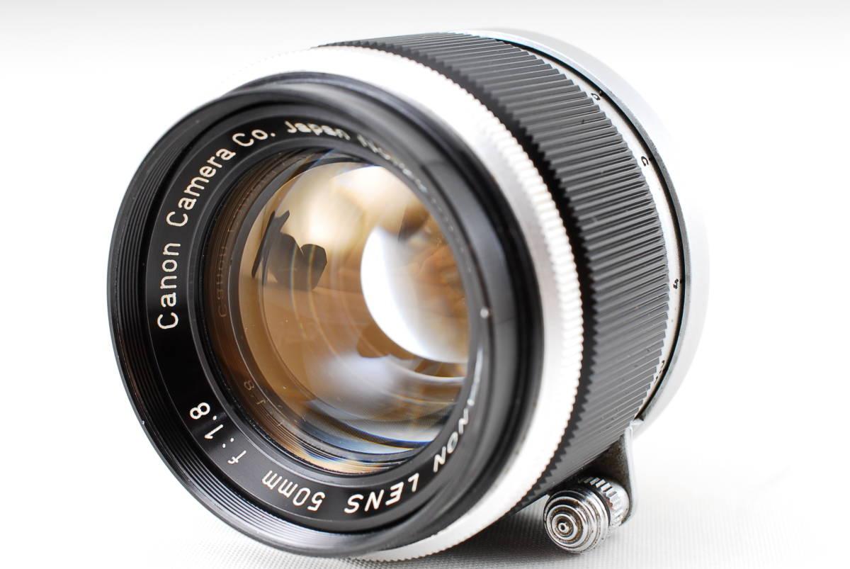 Canon Model L3 ライカマウント 50mm F1.8レンズ付き A15_画像8