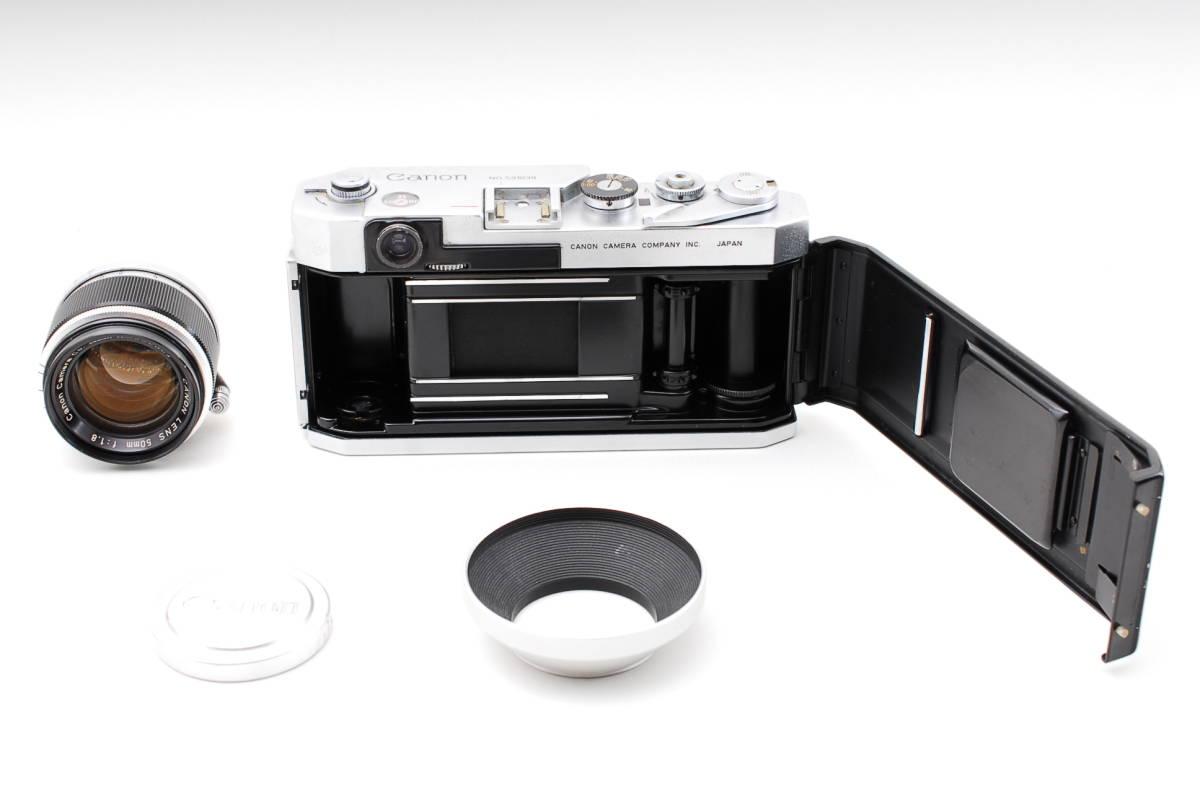 Canon Model L3 ライカマウント 50mm F1.8レンズ付き A15_画像10