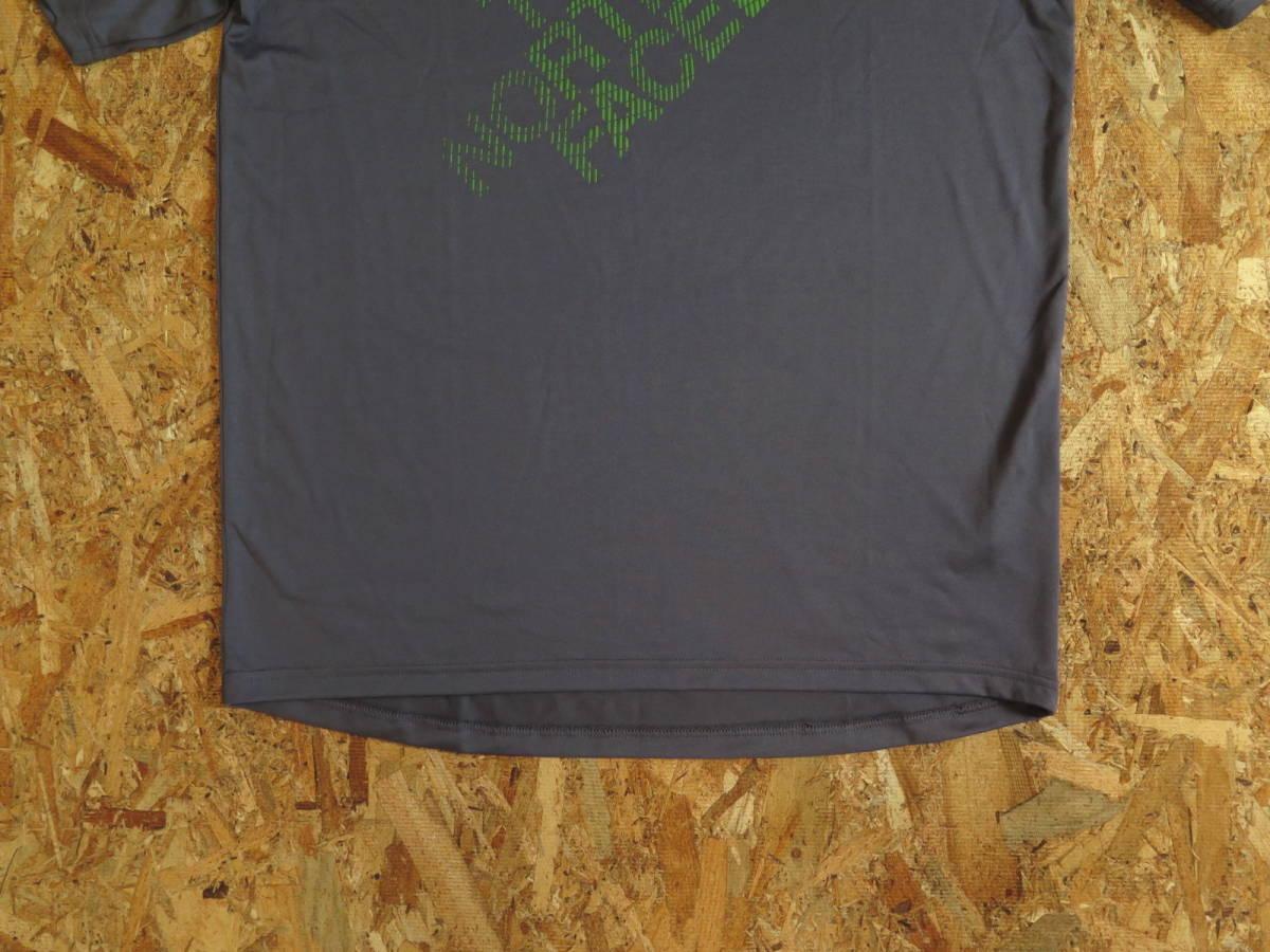 新品☆本物 NY購入 THE NORTH FACE ロゴ Tシャツ Mサイズ ノースフェイス LOGO S/S TEE USA限定 日本未発売モデル T-SHIRT D.GRAY/GREEN_画像4
