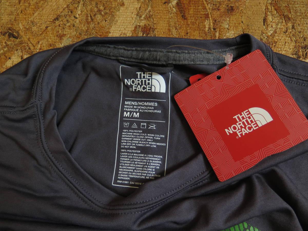 新品☆本物 NY購入 THE NORTH FACE ロゴ Tシャツ Mサイズ ノースフェイス LOGO S/S TEE USA限定 日本未発売モデル T-SHIRT D.GRAY/GREEN_画像9