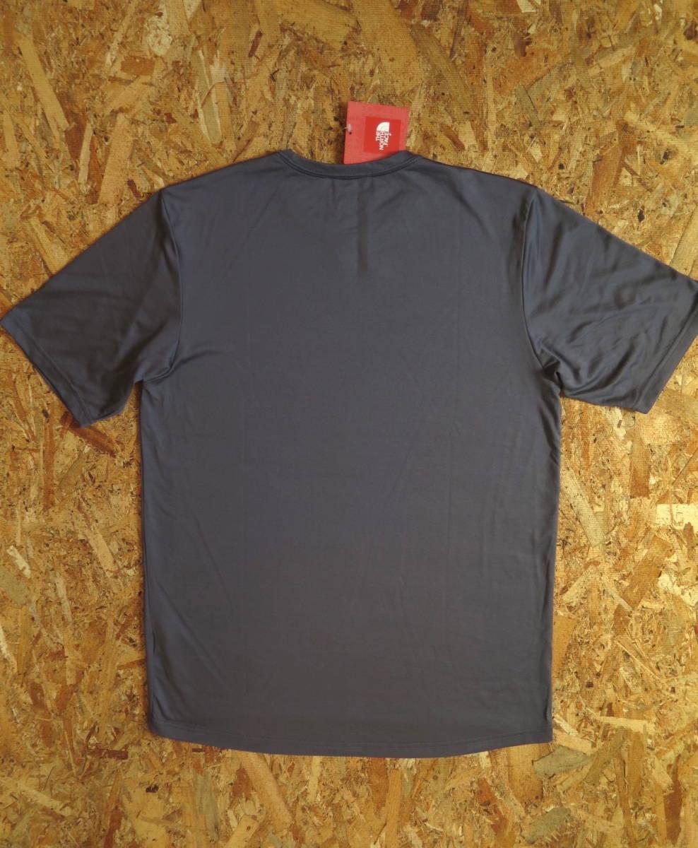 新品☆本物 NY購入 THE NORTH FACE ロゴ Tシャツ Mサイズ ノースフェイス LOGO S/S TEE USA限定 日本未発売モデル T-SHIRT D.GRAY/GREEN_画像2