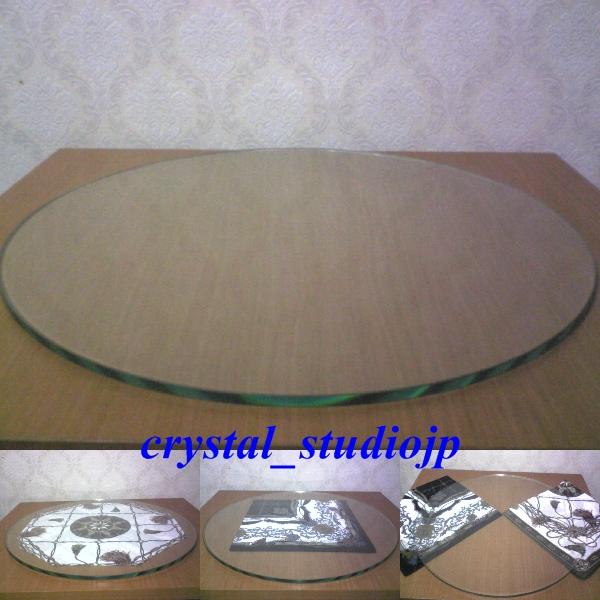 ◇ ガラス300∮ F1のタイヤ・ホイールなどをテーブルに ! _タイヤ・ホイールをテーブルにリサイクル!