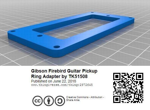 【即決:880円】 ピックアップマウンティングリング / Gibson Firebird Mini-Humbucker用 / PLA(植物由来ポリ乳酸樹脂)製_画像8