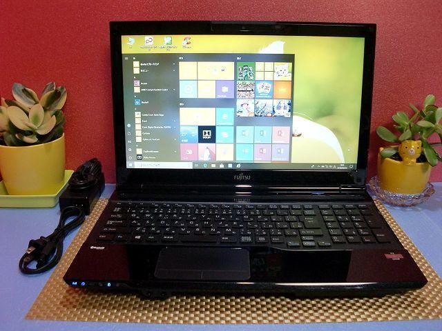 最新 Windows10 Office2016【LIFEBOOK AH40/J】HDD750GB/メモリ4G/高機能AMD E2/無線LAN/HDMI/DVDスーパーマルチ/WEBカメラ/Bluetooth
