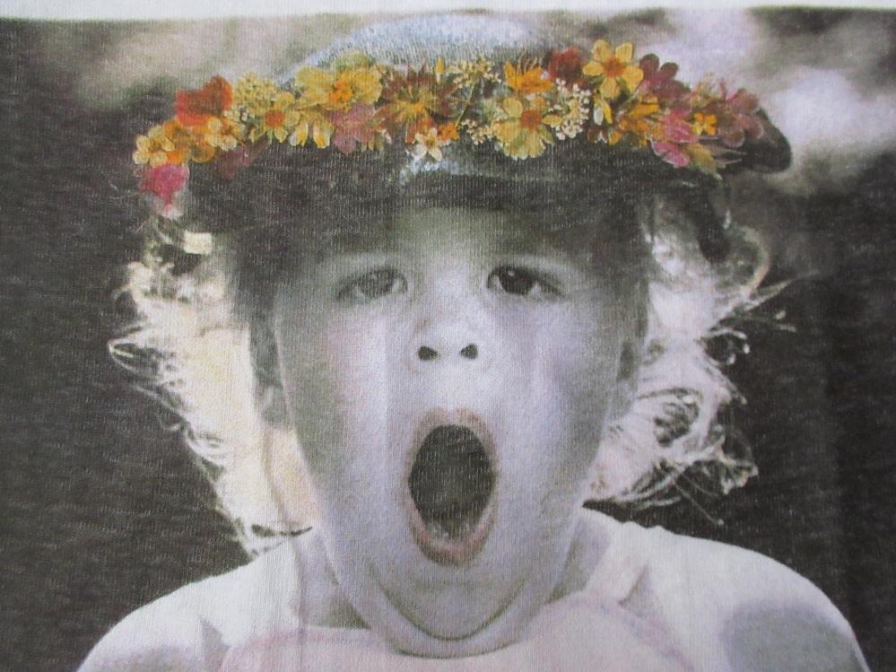 90's USA製 ベッツィ・キャメロン FOTOFOLIO OH MY! フォト Tシャツ M 白 Betsy Cameron Little Angels写真 写真家ART芸術 現代美術 美術館_画像7