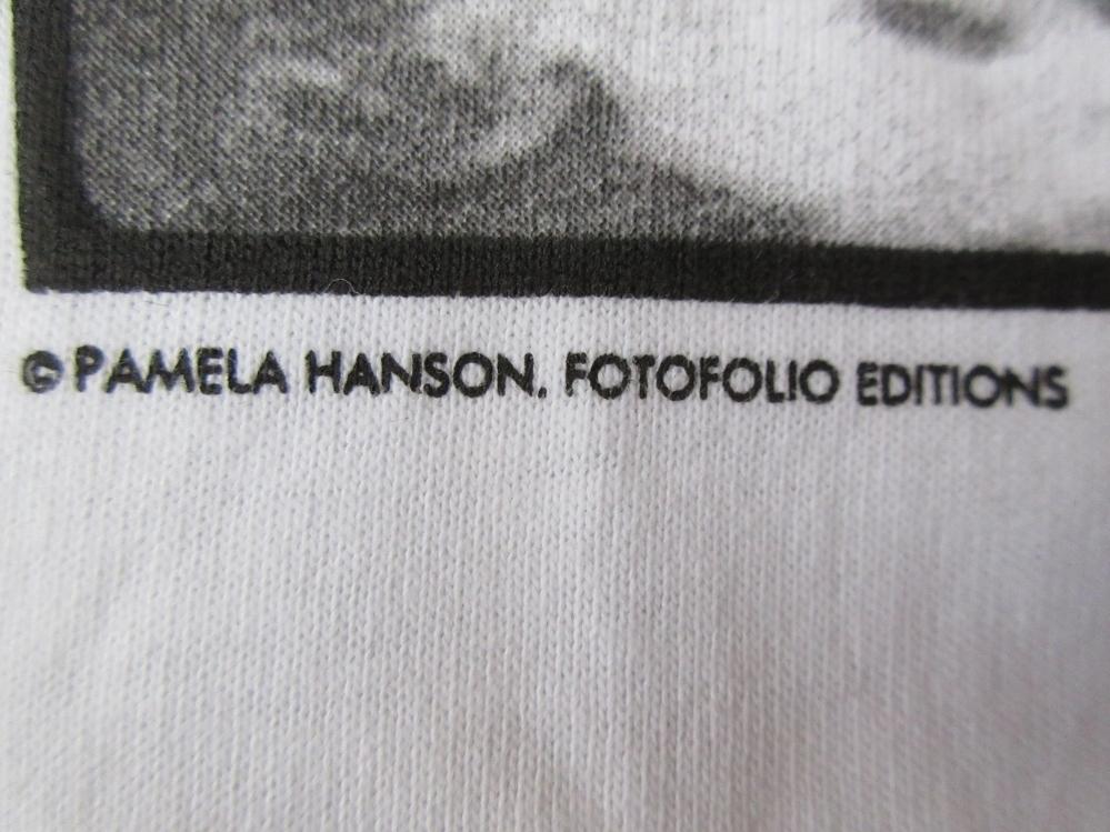 90's USA製 パメラ ハンソン FOTOFOLIO John and Hunter フォト Tシャツ L 白 Pamela Hanson 写真家 Girls写真 芸術 ART 現代美術 美術館_画像7