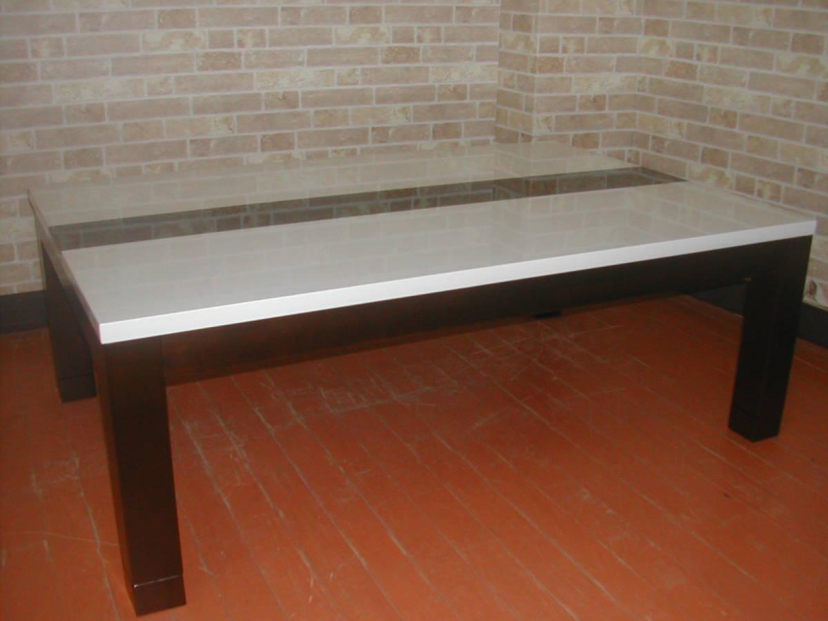 アウトレット送料無料!モダン・こたつ・暖卓・座卓・机・テーブル・ホワイト・展示品