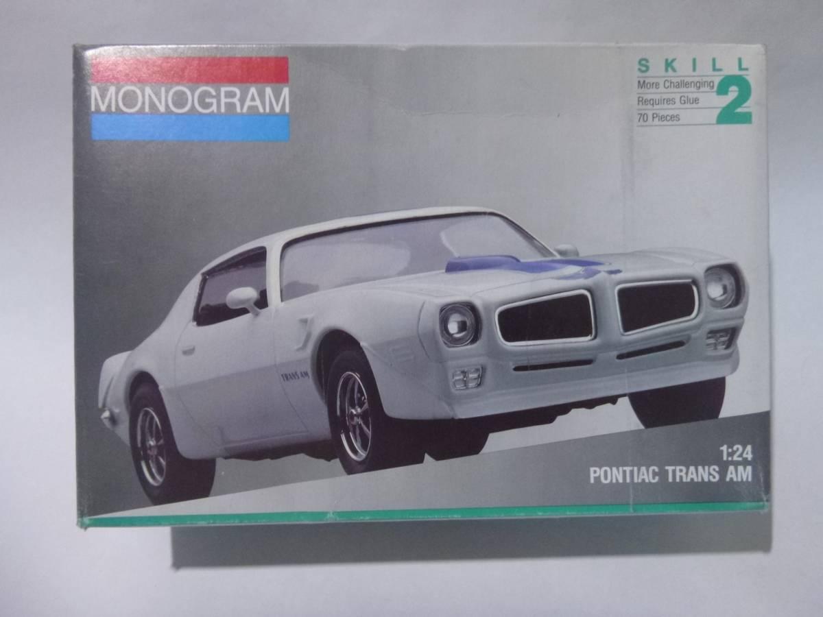 モノグラム 1/24 ポンティアック トランザム 1970 Monogram PONTIAC FIREBIRD TRANS AM/Pony muscle Vintage Plastic Model Car Kit 絶版