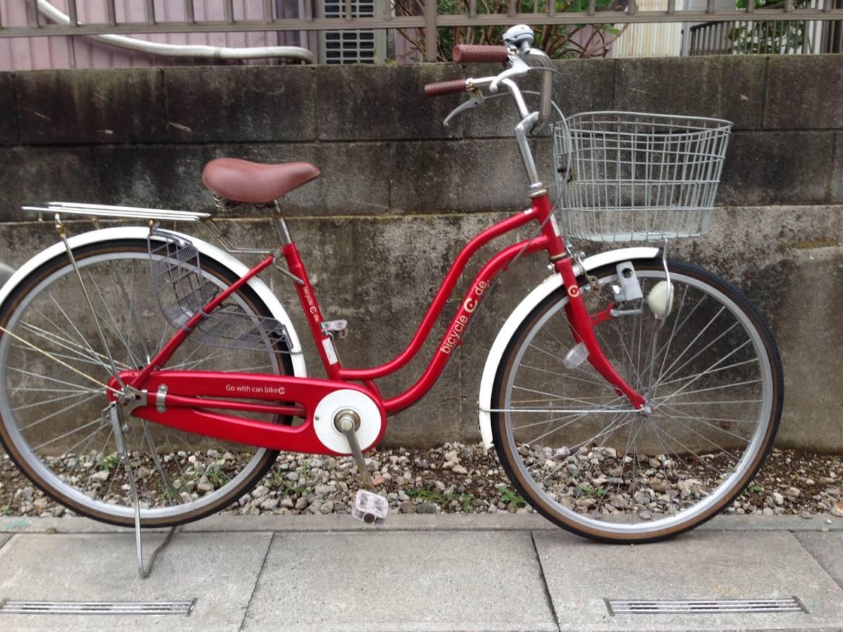 【中古】サイクルスポット 自転車 レッド 変速なし 26型