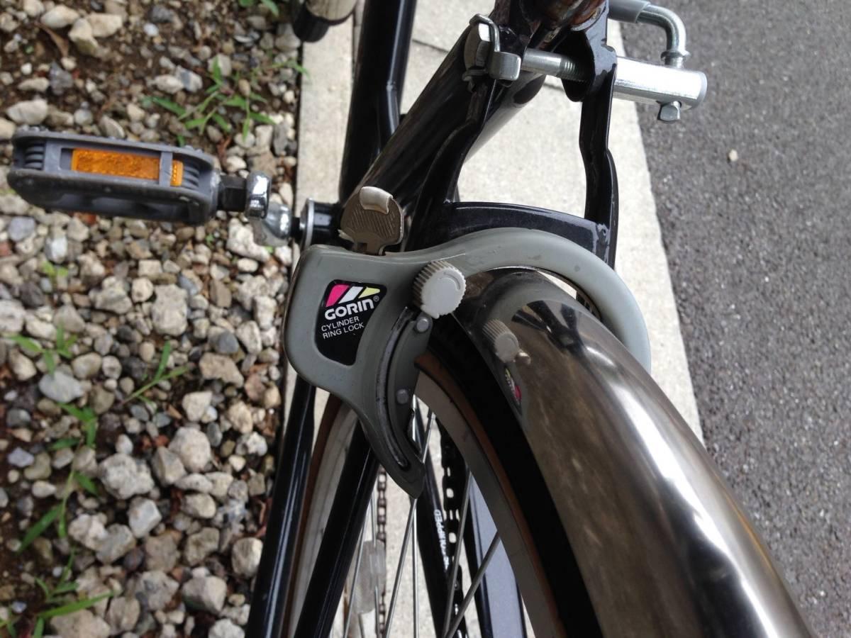 【中古】ナショナルデザインスタジオ 自転車 シティ軽快車 ネイビー 6段変速 26型_画像9