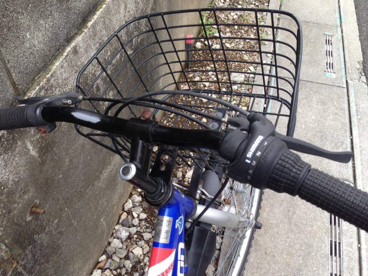 【中古】マルキン自転車 子供用自転車 ACTRON ブルー 6段変速 24型_画像2