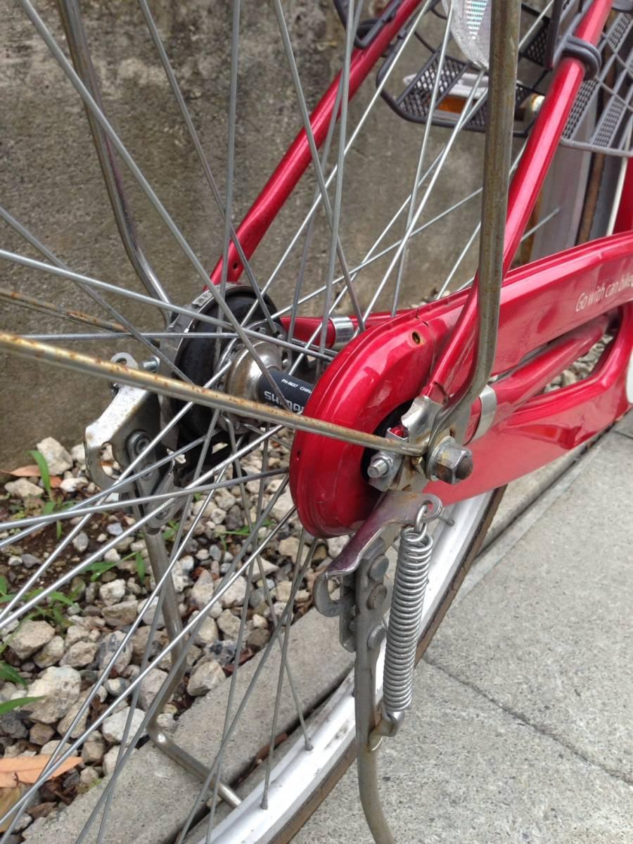 【中古】サイクルスポット 自転車 レッド 変速なし 26型_画像8