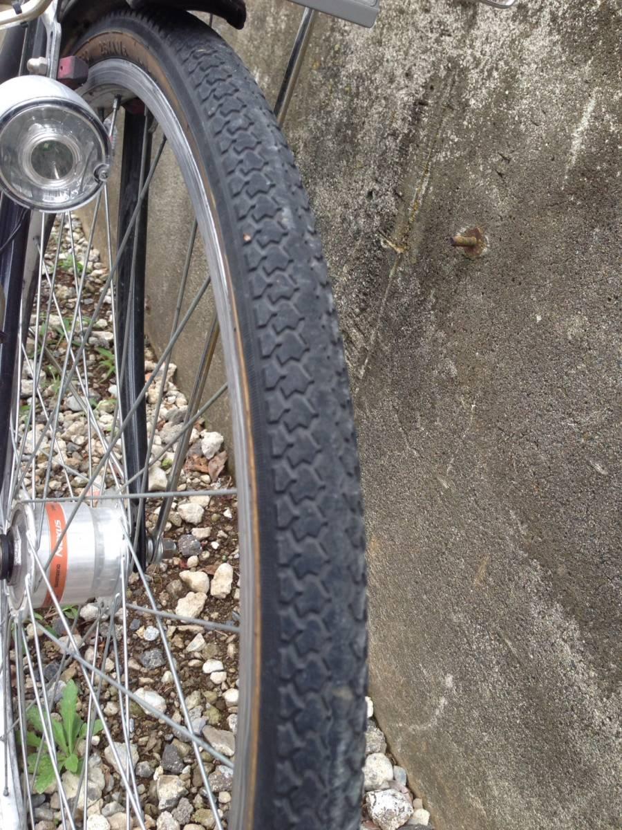 【中古】ナショナルデザインスタジオ 自転車 シティ軽快車 ネイビー 6段変速 26型_画像4