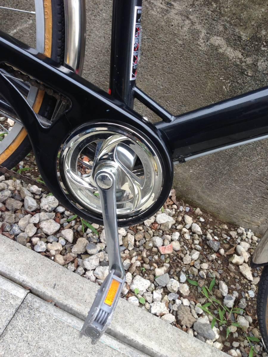 【中古】ナショナルデザインスタジオ 自転車 シティ軽快車 ネイビー 6段変速 26型_画像6