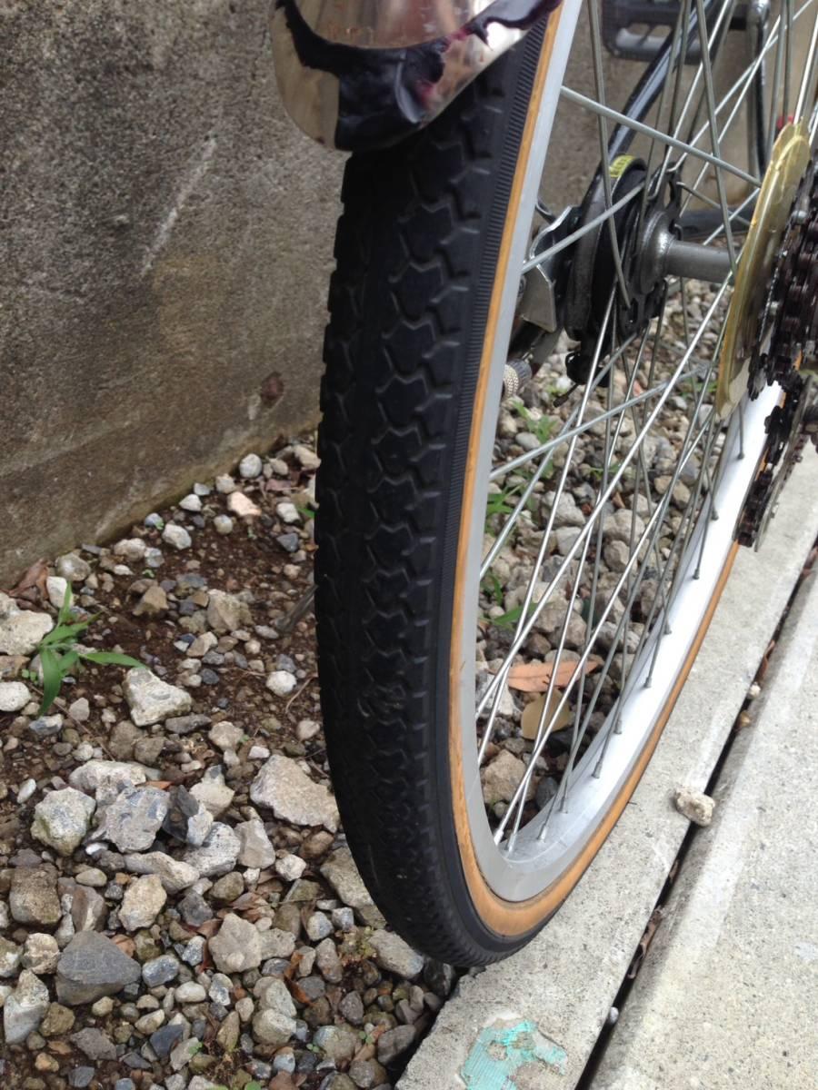 【中古】ナショナルデザインスタジオ 自転車 シティ軽快車 ネイビー 6段変速 26型_画像8