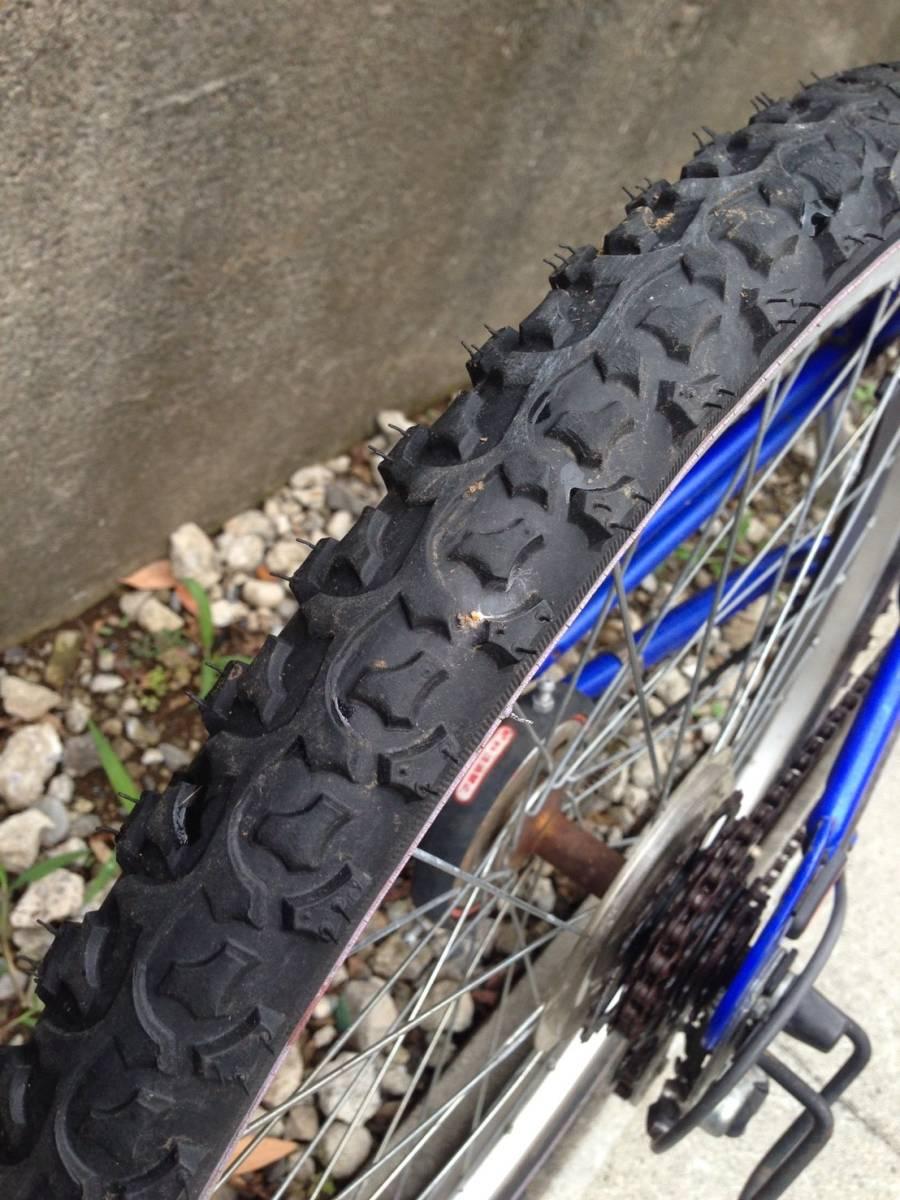 【中古】マルキン自転車 子供用自転車 ACTRON ブルー 6段変速 24型_画像8