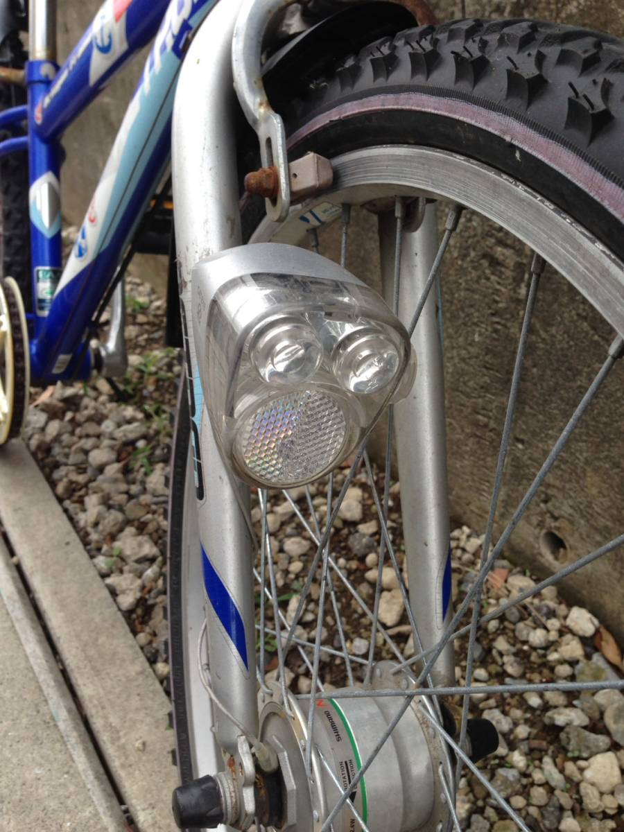 【中古】マルキン自転車 子供用自転車 ACTRON ブルー 6段変速 24型_画像3