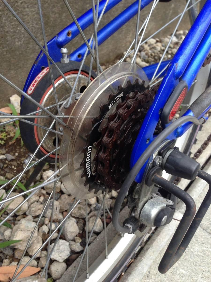 【中古】マルキン自転車 子供用自転車 ACTRON ブルー 6段変速 24型_画像7