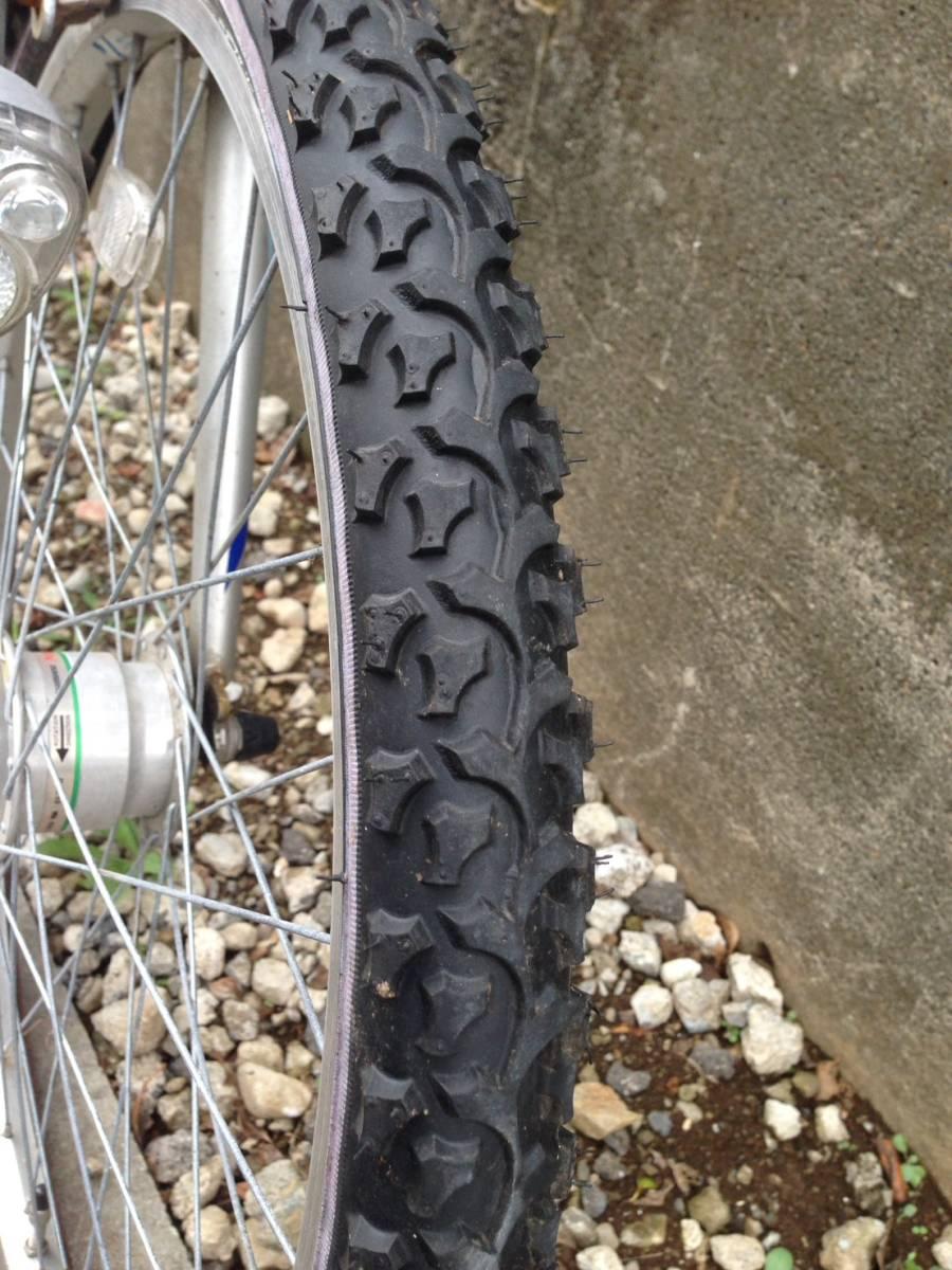 【中古】マルキン自転車 子供用自転車 ACTRON ブルー 6段変速 24型_画像4