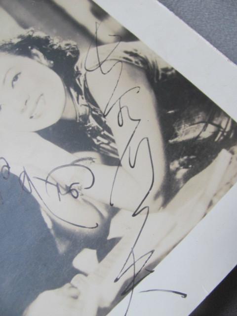 ◆1940年頃のスチール写真「李香蘭・長谷川一夫」両名直筆サイン付・大陸三部作・山口淑子_画像3