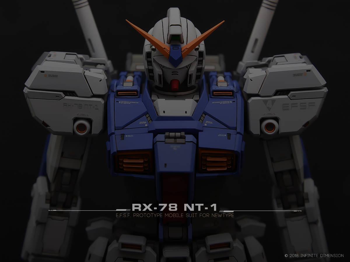 MG 1/100 RX-78 NT-1 ALEX Gundam 徹底改修塗装済完成品