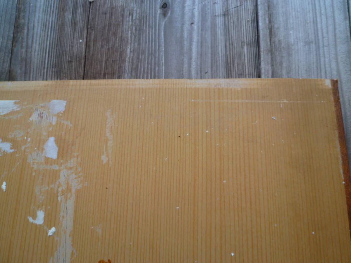 M5470 戸襖 1枚 クロス襖紙張り替え必要 車輪付 木製 建具【送り先は会社 事務所 店舗限定】【個人様は西濃運輸局留め】(3006)_画像6