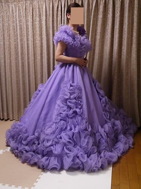 ウエディングドレス パーティドレス 作り直しの15号