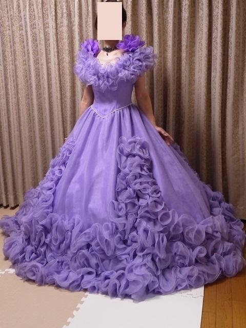 ウエディングドレス パーティドレス 作り直しの15号_画像2