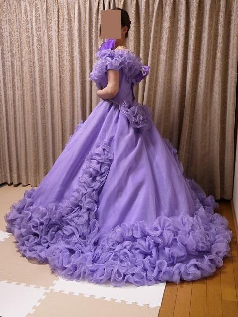 ウエディングドレス パーティドレス 作り直しの15号_画像3