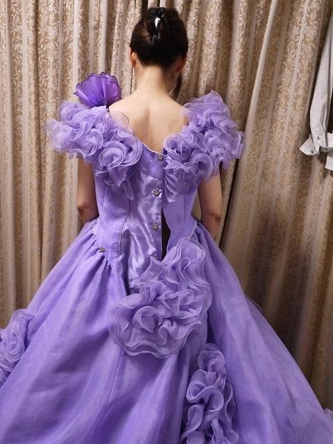 ウエディングドレス パーティドレス 作り直しの15号_画像6